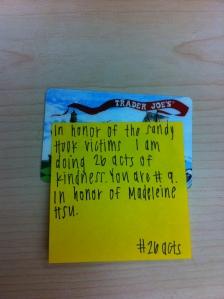 Random Act #9: Madeleine Hsu