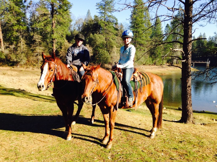 Katie & I Riding